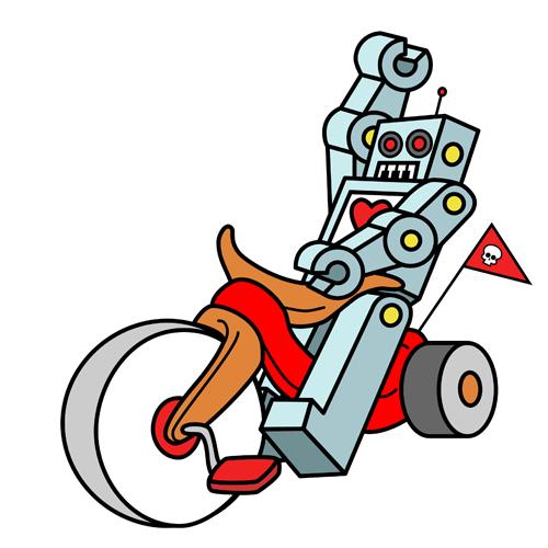 hot-wheeling robot love